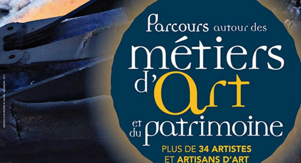 PARCOURS AUTOURS DES MÉTIERS D'ART ET DU PATRIMOINE.