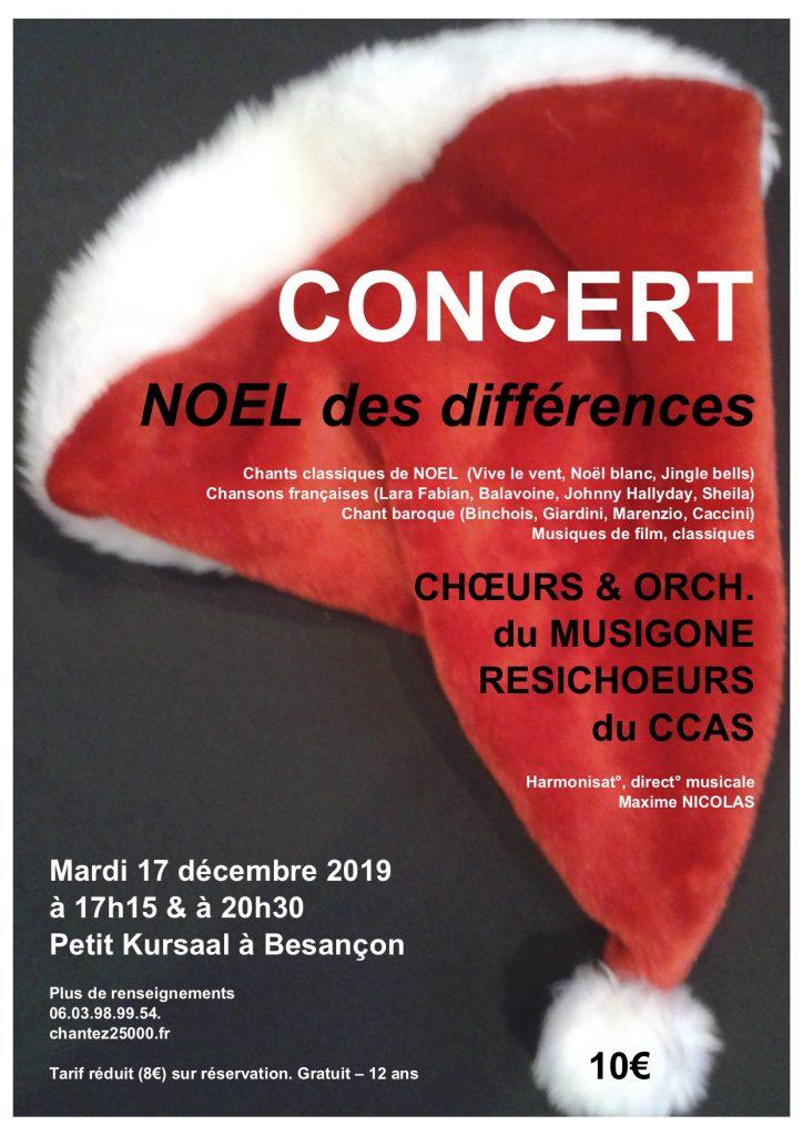 concert Noël des Différences